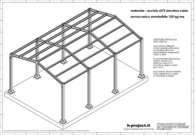 serra solare in acciaio robusta struttura ss1