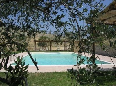 Splendido giardino con piscina estiva