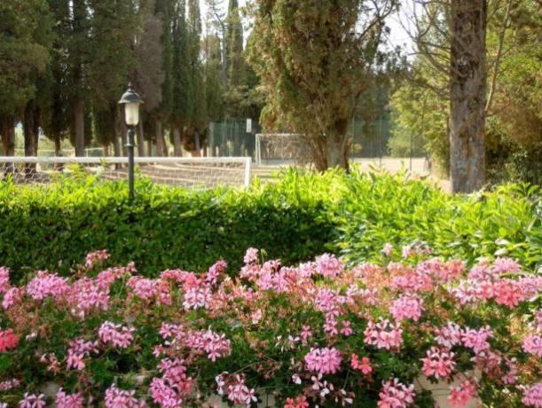 Parco con divertimento bambini villa-storica Umbria
