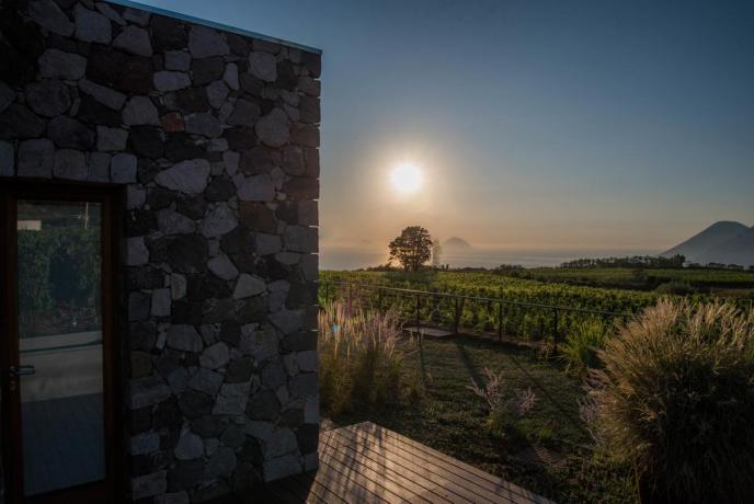 appartamento vacanza Lipari con vista mare Sicilia