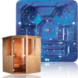 Mini piscina idromassaggio e sauna finlandese prezzo offerta