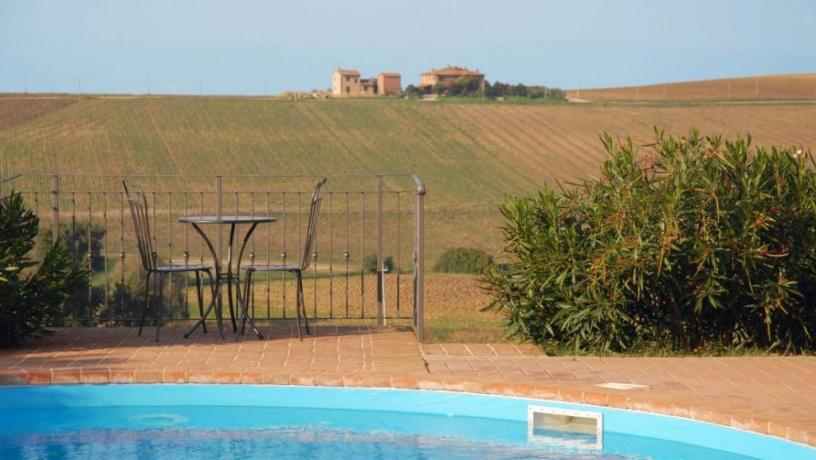Relax in piscina immersi nel verdedell' Umbria