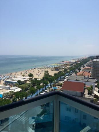Vista della Spiaggia dalla Camera H. Adriatico
