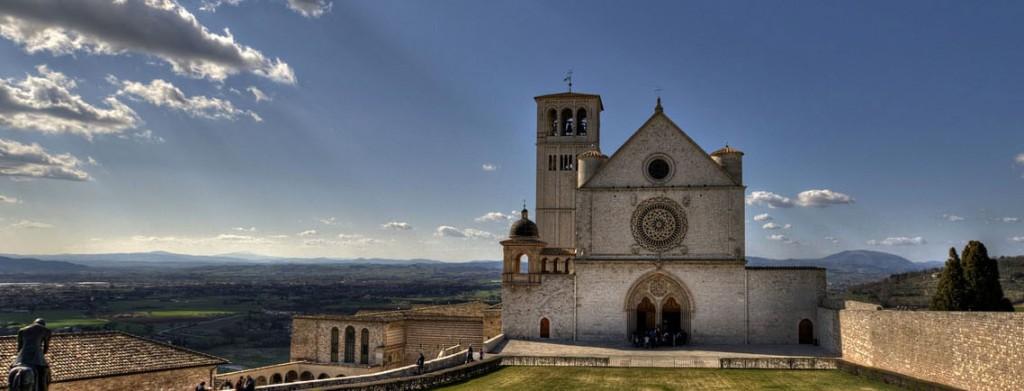 Assisi vicino casale del Medioevo