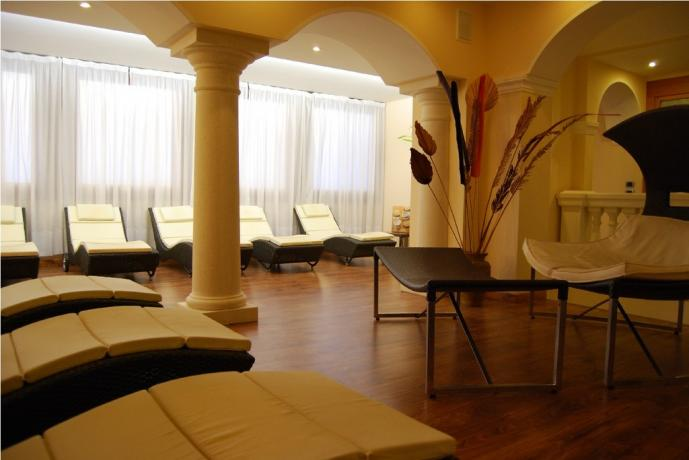 Area Relax della SPA hotel lago di Garda