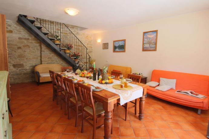 Casolare Penta persone 15/23 area soggiorno-cucina