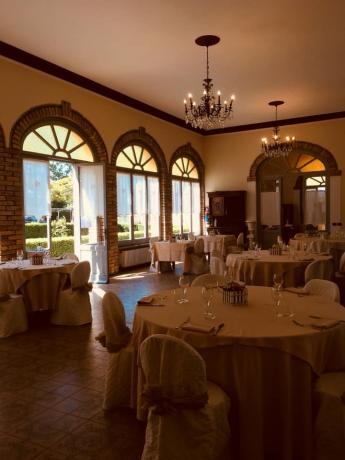 Sala ristorante tenuta storica città di castello