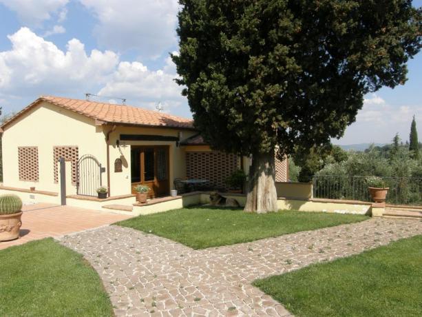 Appartamenti con ampio cortile in Toscana