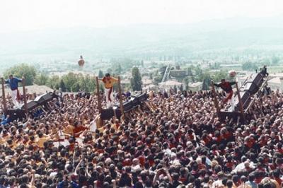 Panoramic view of Gubbio