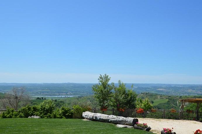 Panorama dal Resort con Spa in Villa Privata