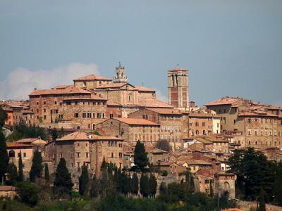 Montepulciano a sud della Toscana