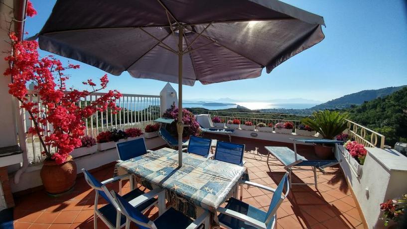 Terrazza vista mare casa vacanze Barano d'Ischia