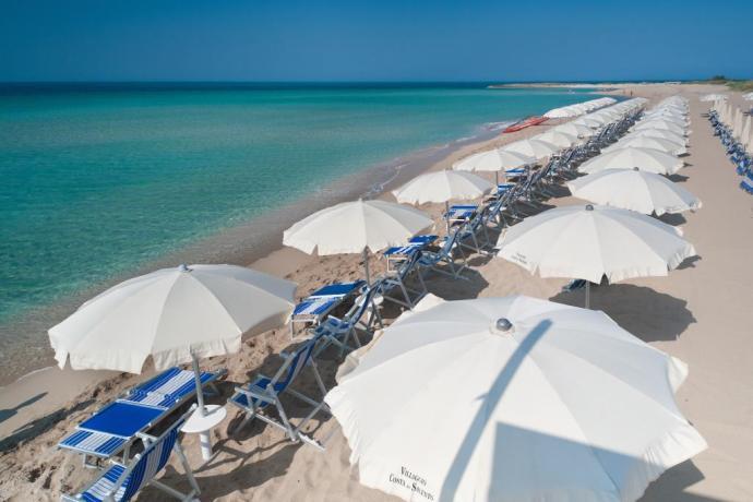 Spiaggia privata in Hotel Residence sul Mare Salento