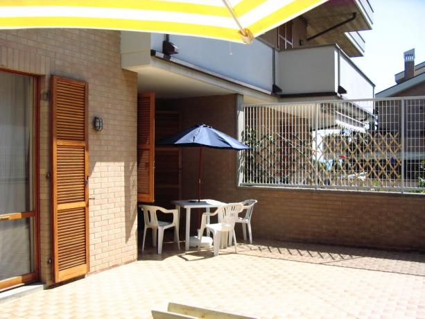 B&B con terrazzo per solarium a Porto Sant'Elpidio