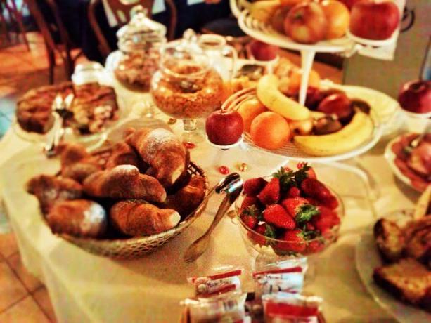 Ricca prima colazione a buffet