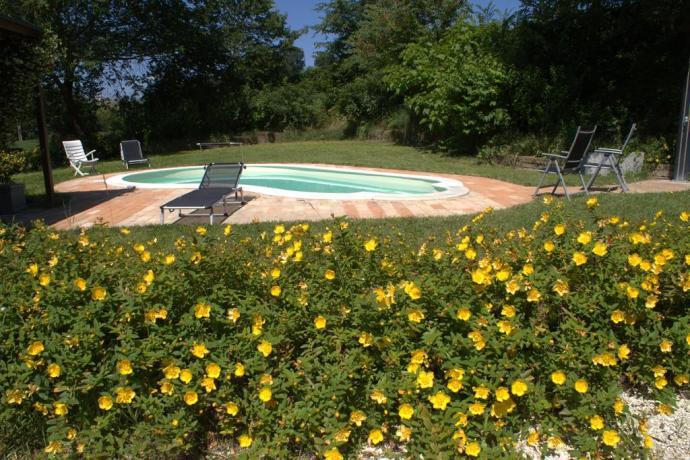 Veduta dalla piscina, Casa Vacanza Marche