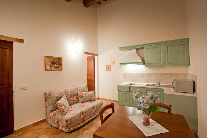 Appartamento ginestra, zona giorno, cucina