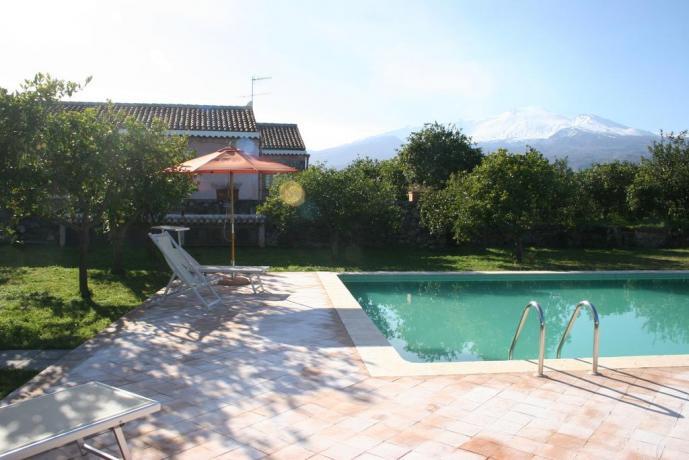 Agriturismo con piscina vicino all'Etna e al mare