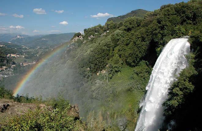 Arcobaleno e Cascata delle Marmore in Umbria