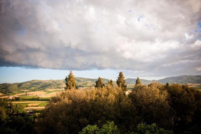 Vista vallata Umbra albergo 5stelle sopra Perugia