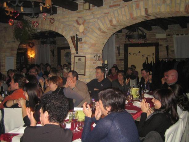 Sala ristorante locanda ad Ariis