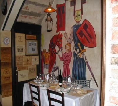 ristorante dipinti sui muri