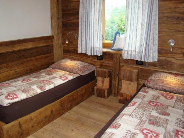 Camera doppia con angolo cottura in Trentino