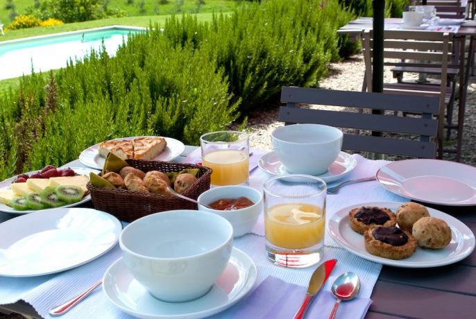 Gustose colazioni a bordo piscina