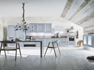cucina di design in legno massello vela