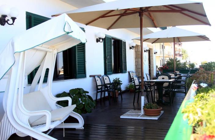 Terrazza con vista mare hotel Rodi Garganico