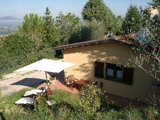 Rural home with panoramic view in Umbria