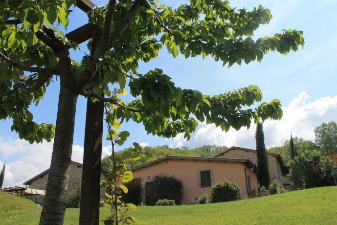 Agriturismo vicino Assisi con giardino