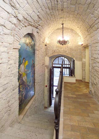 Hall dell'Hotel in centro a Perugia