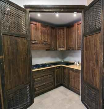 Offerta cucine finta muratura sconto del 50 cucine legno massello produzione e vendita spello - Cucine in finta muratura in offerta ...