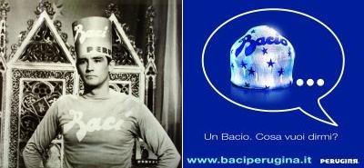 Vittorio Gassman advertising Bacio Perugina