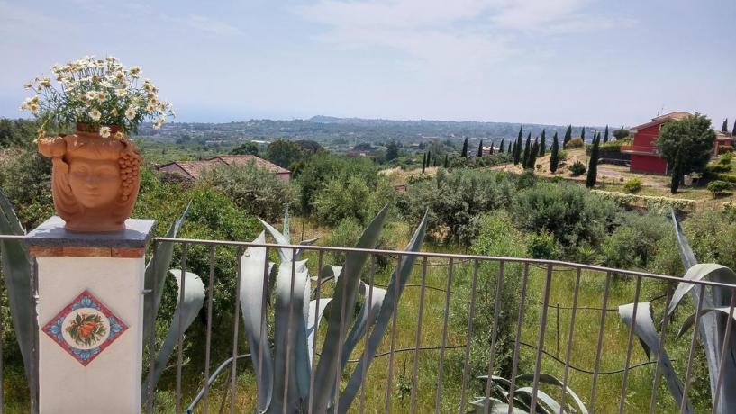 Vista panoramica B&B a Santa Venerina