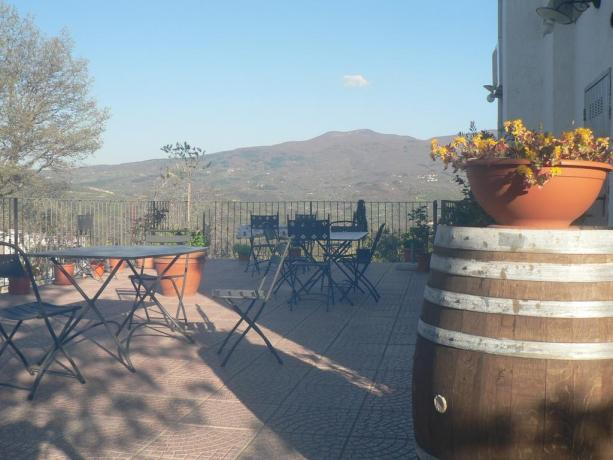 Terrazza panoramica Hotel in Val d'Orcia