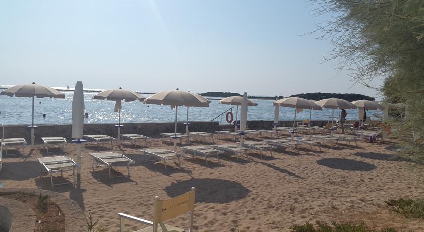 Spiaggia privata in Hotel sul Mare del Salento