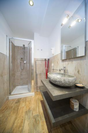 Appartamento-vacanze 6posti-letto bagno doccia asciugamani campo smith