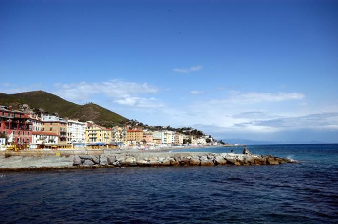 Varazze Liguria vista litorale della costa