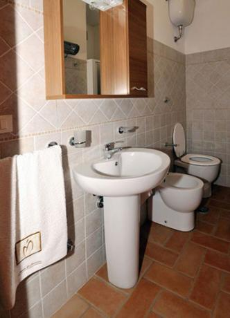 Bagno privato appartamento Montepulciano, agriturismo