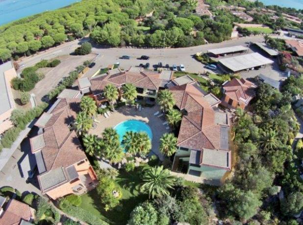150 mt dal mare e 500 dal centro di Palau, Residence con Aria Condizionata, Piscina, Internet Gratis, aninali ammessi