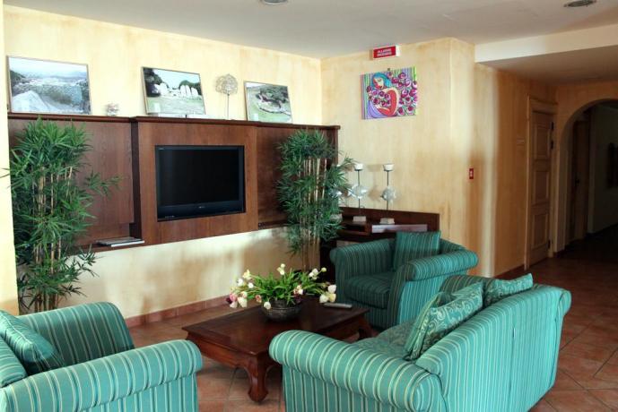 sala tv in comune hotel panorama