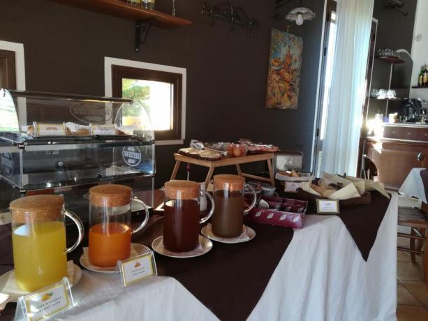 Buffet colazione resort vicino Riserva Naturale dello Zingaro