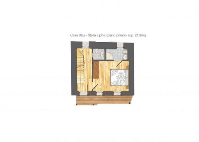 Casa Blas - pianta piano superiore