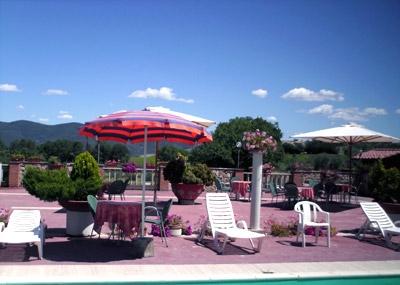 ombrelloni e sdraio per gli ospiti