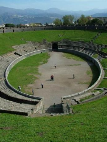 The amphitheater of Pompeii