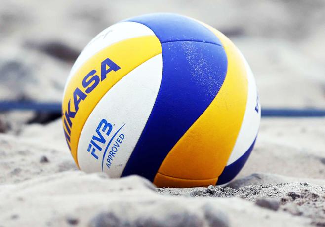 Spiaggia dotata di campo da beach volley