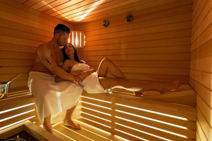 Centro benessere con Sauna Finlandese in esclusiva