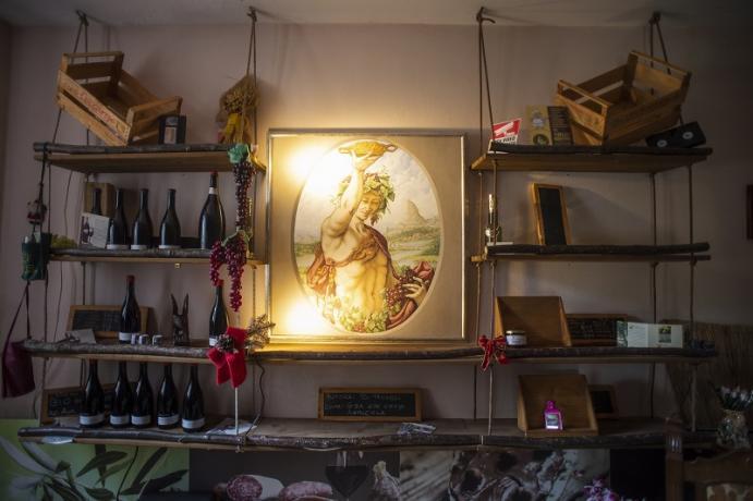 I vini della casa agriturismo a Gubbio